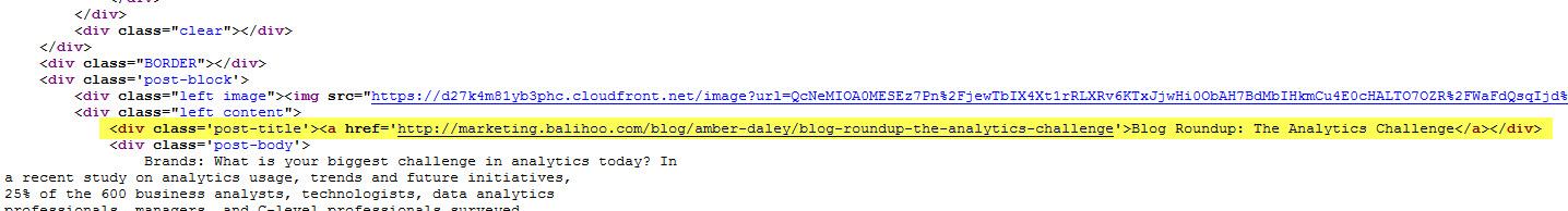 2- URL scraper page source